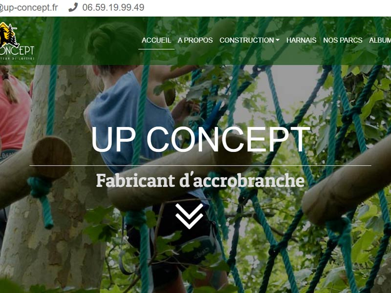 Construction de parc aventure par Up Concept