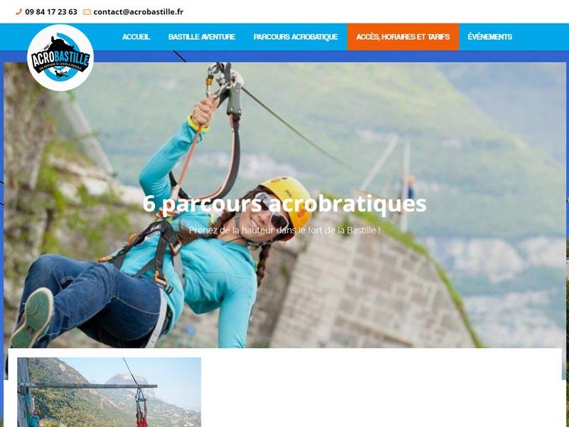 Acrobastille, parc de loisir à Grenoble